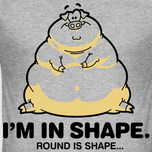 Round Is Shape 1 (2c)++ T-Shirts - Men's Slim Fit T-Shirt
