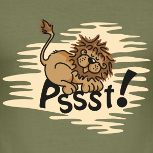 Little sleeping Lion T-Shirts - Men's Slim Fit T-Shirt