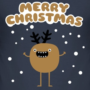 Merry Christmas Moose Tee shirts - Tee shirt près du corps Homme