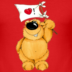A lovesick bear T-shirts - Slim Fit T-shirt herr