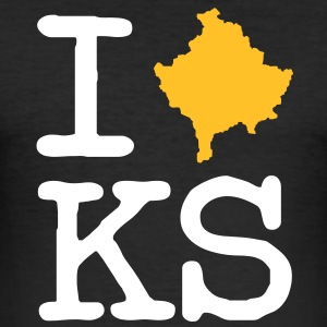 I Love Kosovo - Man (Slimfit) - Männer Slim Fit T-Shirt
