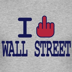 I F**K Wall Street T-skjorter - Slim Fit T-skjorte for menn