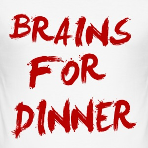 brains for dinner Tee shirts - Tee shirt près du corps Homme