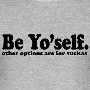 be yourself T-shirts - Slim Fit T-shirt herr