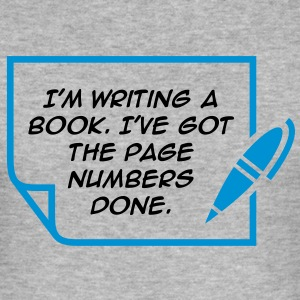 Writing A Book 1 (2c)++ T-Shirts - Men's Slim Fit T-Shirt
