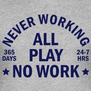 never working T-shirts - Slim Fit T-shirt herr