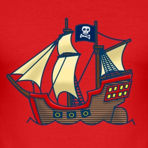 Piratenschip T-shirts - slim fit T-shirt