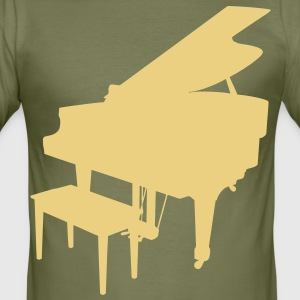 music piano grand piano T-shirts - Herre Slim Fit T-Shirt