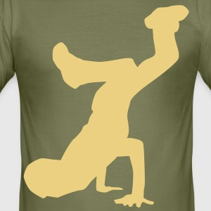 breakdance dance music hiphop T-shirts - Slim Fit T-shirt herr
