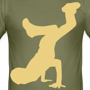 breakdance dance music hiphop T-shirt - Maglietta aderente da uomo