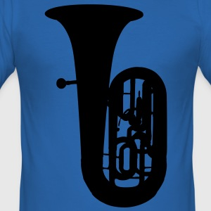 music tuba brass T-Shirts - Männer Slim Fit T-Shirt