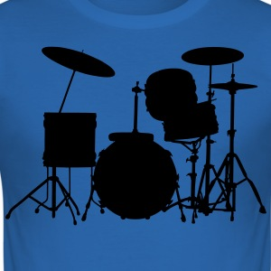 music drums drum set T-shirt - Maglietta aderente da uomo