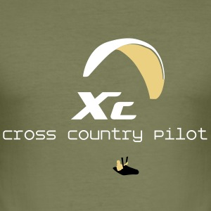 XC Cross Country Paraglider T-shirts - slim fit T-shirt