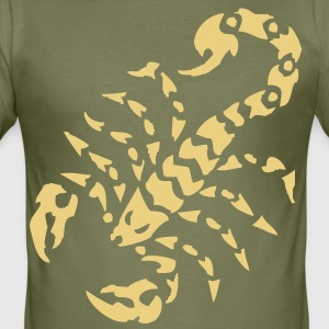 tribal tattoo scorpion T-shirt - Maglietta aderente da uomo