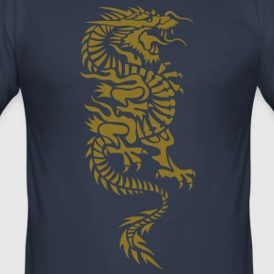 chinese dragon tribal T-shirt - Maglietta aderente da uomo