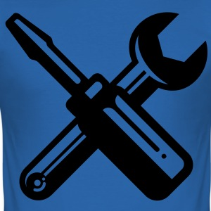 screwdriver wrench carpenter profession T-Shirts - Men's Slim Fit T-Shirt