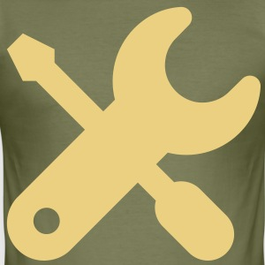 tools profession screwdriver wrench T-Shirts - Men's Slim Fit T-Shirt