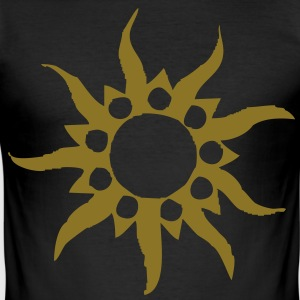 tribal sun T-shirts - Slim Fit T-shirt herr