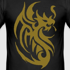 tribal tattoo dragon T-shirts - slim fit T-shirt