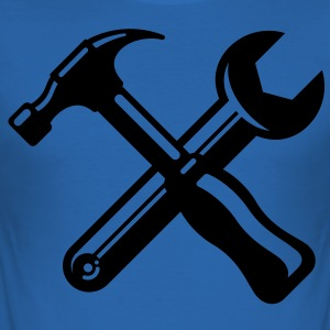 hammer wrench profession carpenter Tee shirts - Tee shirt près du corps Homme