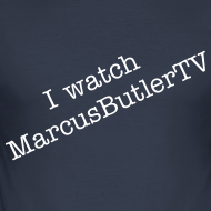 Design ~ I Watch MarcusButlerTV Men's Slim Fit T-Shirt