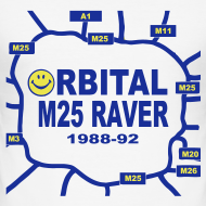 Design ~ Oribital M25 Acid House Raver T-shirt