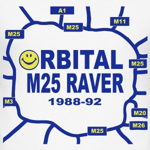 Orbital M25 Acid Hosue Raver T-Shirts - Men's Slim Fit T-Shirt