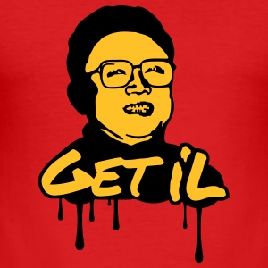 Get Il - Kim Jong Il T-shirts - slim fit T-shirt
