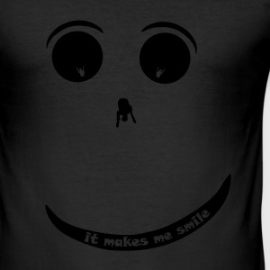 Paraglider Smiley T-shirts - Slim Fit T-shirt herr
