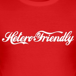 hetero friendly :-: - Herre Slim Fit T-Shirt