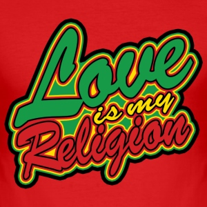 love is my religion T-Shirts - Männer Slim Fit T-Shirt