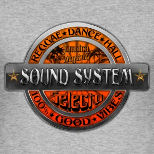 sound system reggae dance hall jamaica T-skjorter - Slim Fit T-skjorte for menn