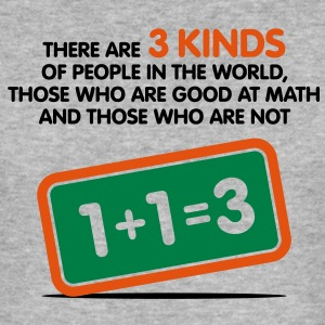 3 Kinds Of People 1 (3c)++ T-shirts - Herre Slim Fit T-Shirt