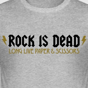 Rock Is Dead 2 (2c)++ T-Shirts - Männer Slim Fit T-Shirt