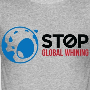 Stop Global Whining 2 (dd)++ T-shirts - Herre Slim Fit T-Shirt