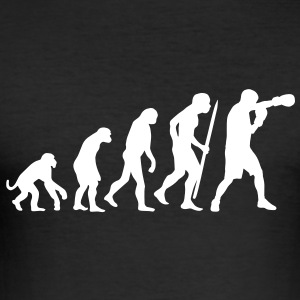 Evolution of boxing T-Shirts - Men's Slim Fit T-Shirt