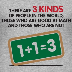 3 Kinds Of People 1 (dd)++ T-shirt - Maglietta aderente da uomo