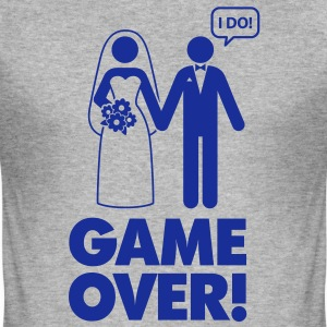 Game Over 1 (1c)++ T-Shirts - Men's Slim Fit T-Shirt