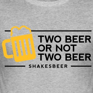 Two Beer Shakesbeer 1 (2c)++ T-skjorter - Slim Fit T-skjorte for menn