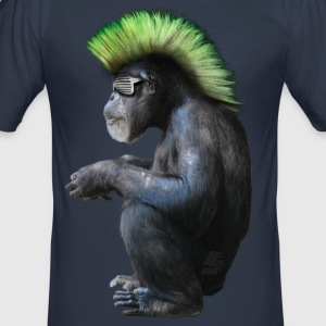 chimpanzé néo punk by customstyle - Tee shirt près du corps Homme