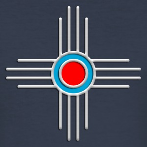 Zia Sun, Silver, Turquoise, Red, Zia Pueblo, Native American, New  Mexico, Sun Symbol, Sacred Symbol T-Shirts - Männer Slim Fit T-Shirt