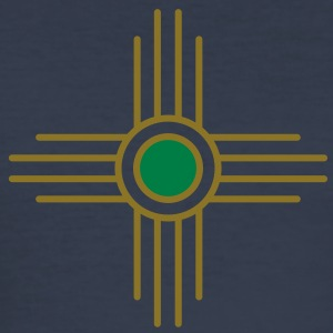 Zia sun, Vectorgraphic, Sun Symbol,  Zia Pueblo, New  Mexico, Sacred Symbol, Protection Symbol T-Shirts - Men's Slim Fit T-Shirt