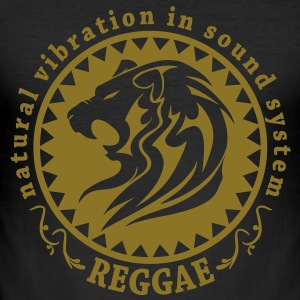 natural vibration in sound system reggae Tee shirts - Tee shirt près du corps Homme