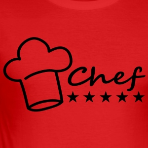 chef T-shirts - Slim Fit T-shirt herr