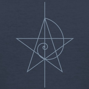 pentagram, five star, pentagram, spiral, alchemy, magic, witches, magic, character fibunacci, compasses, gothic, pagan T-Shirts - Men's Slim Fit T-Shirt