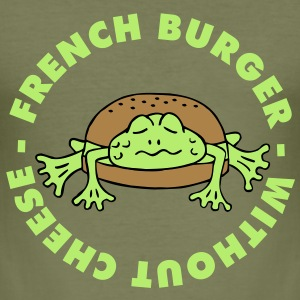 Froschburger French Burger Fastfood Frog ohne Käse without cheese Frankreich France Tee shirts - Tee shirt près du corps Homme