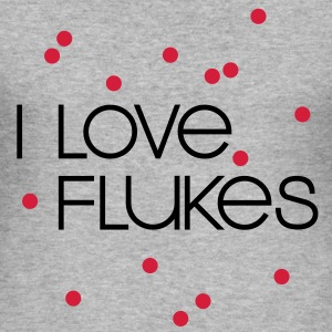 SNOOKER - I LOVE FLUKES | Männershirt slim fit - Männer Slim Fit T-Shirt