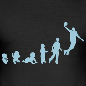 evolution basketball dunk2 Tee shirts - Tee shirt près du corps Homme