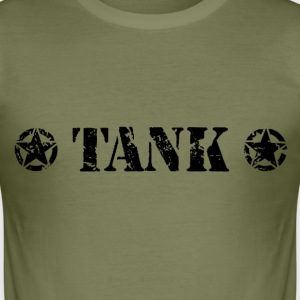 TANK Black T-Shirts - Men's Slim Fit T-Shirt