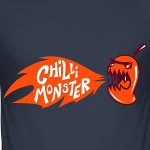 Chilli Monster - Men's Slim Fit T-Shirt